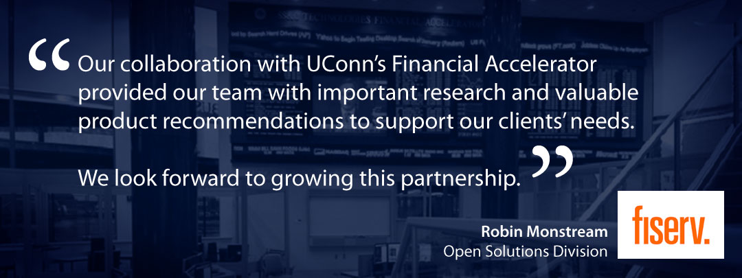 UConn MBA Experiential Learning Financial Accelerator Quote