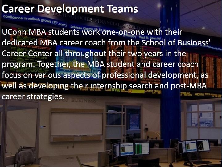 Career Development   UConn MBA Program