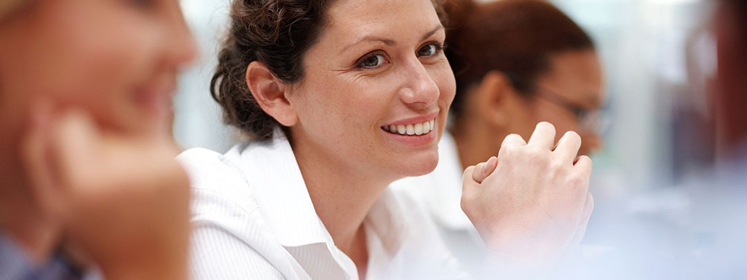 Closeup of smiling student