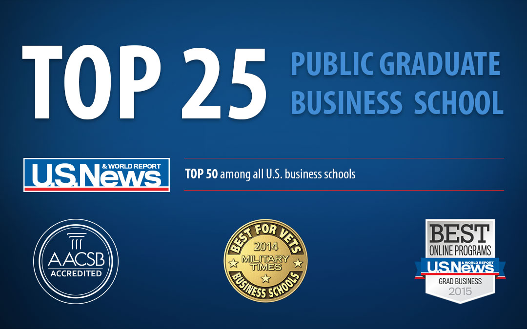 Top 25 Public Graduate Business School - US News