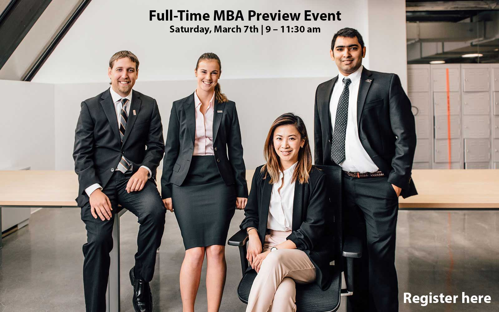 Full-Time MBA Preview Event March 7 from 9-11:30 am