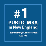 #1 Public MBA in New England, BloombergBusinessweek (2019)