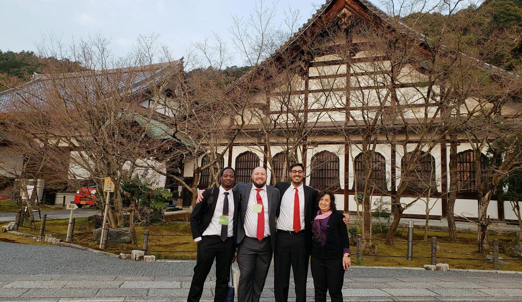 students and faculty go to Japan for case competition